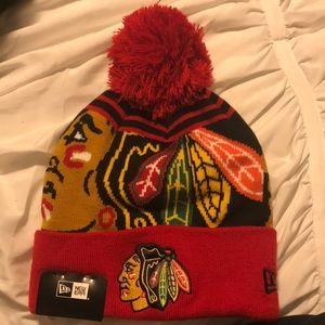 Canadian Blackhawks winter hat
